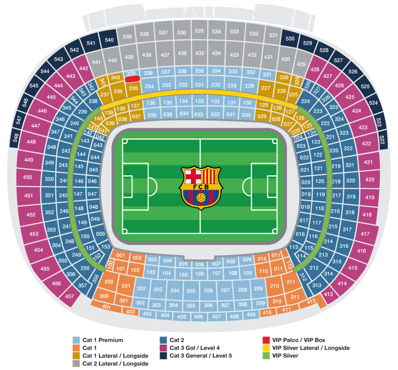 Ticketklasse FC Barcelona