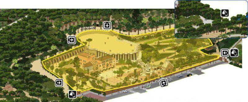 architektonischen zone Park Güell