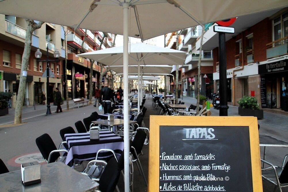 Terrasse bars Rambla Poblenou