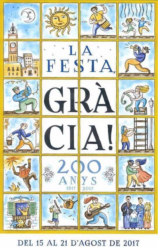 Poster Festa Major Gràcia 2017