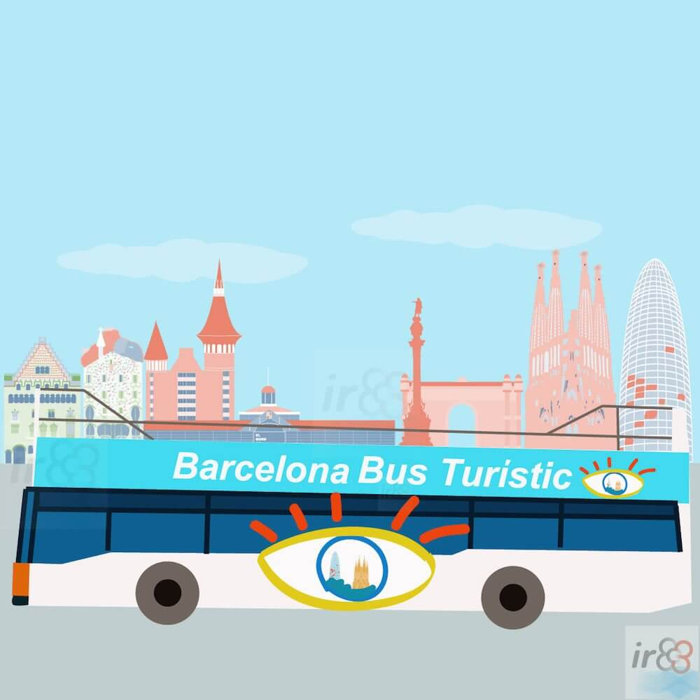 Touristenbus in Barcelona