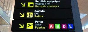 Barcelona vom Flughafen El Prat