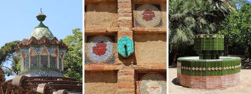 Güell Pavillons und Jardí Gaudí