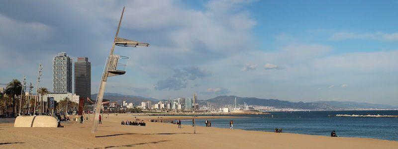 Strandpromenade und Port Vell