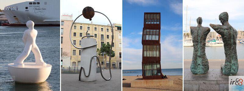 Stadt-Skulpturen und -Statuen in Barcelona
