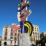 Cara de Barcelona - Barcelona's Head Skulptur