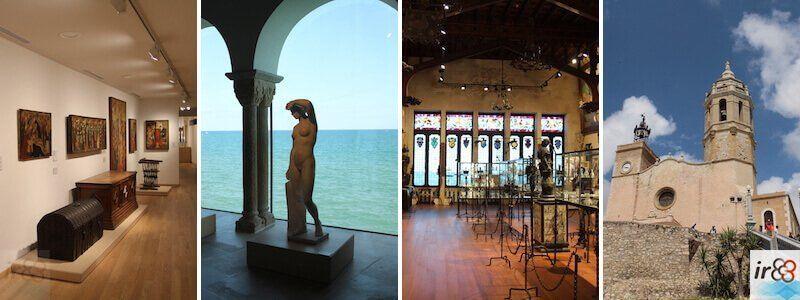 Museen, Denkmäler und Kirchen in Sitges