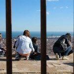 Freunde auf der Aussichtspunkt von El Carmel