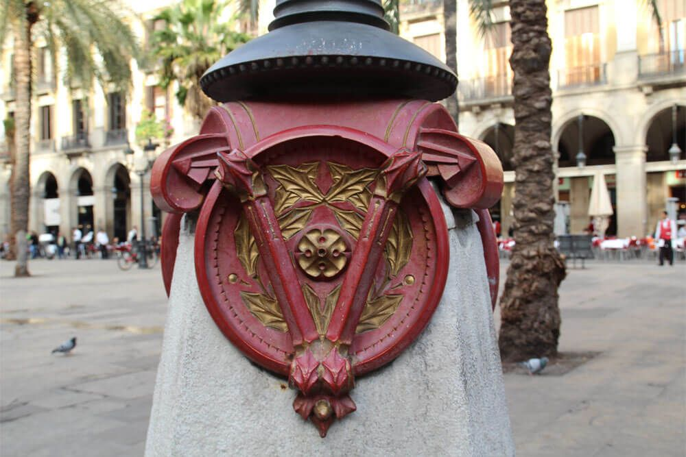 Straßenlaterne Gaudí