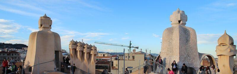 Die Dachterrasse Casa Milà