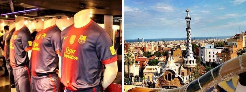 Camp Nou und Park Güell