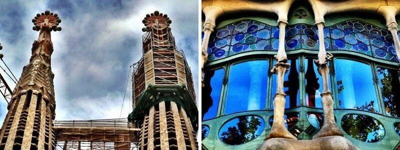Casa Batlló und Sagrada Familia