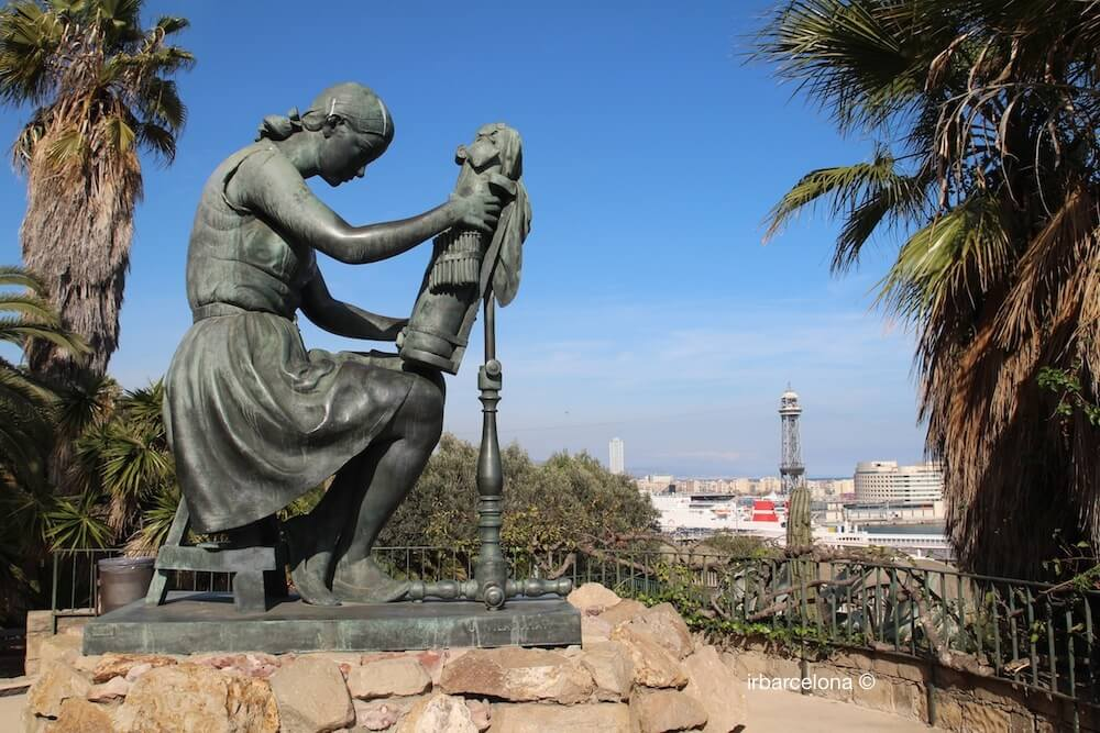 Skulptur La Puntaire