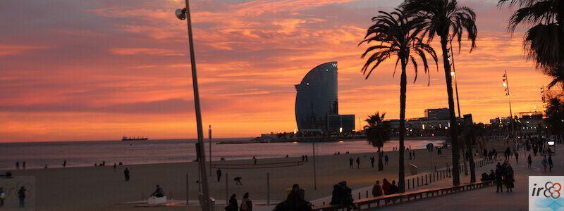 Strand und Promenade Barcelona