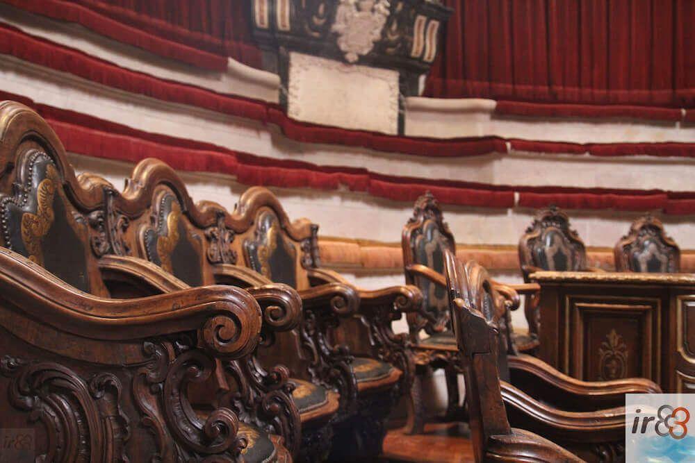 Sitze Anatomisches Amphitheater im Rokoko-Stil
