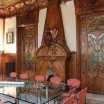 Wohnzimmer Kamin modernistischen Stil