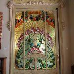 Glasmalerei an der Tür Casa Manuel Felip