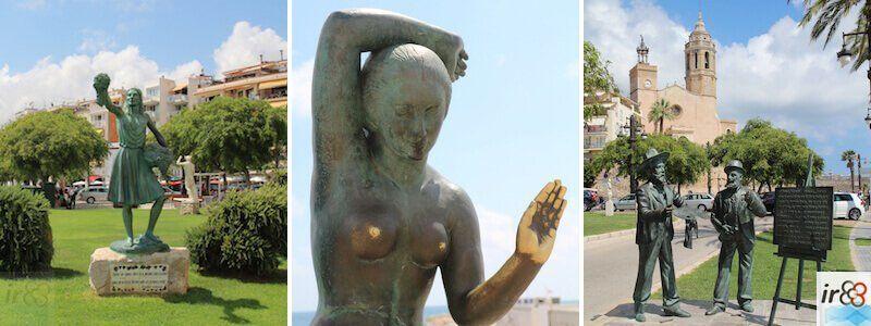 die städtischen Statuen und Skulpturen in Sitges