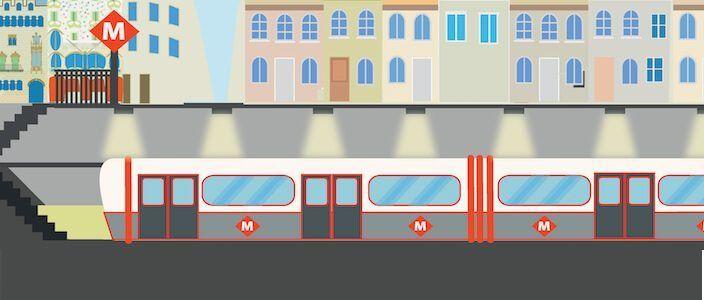 Die Metro (U-Bahn) von Barcelona