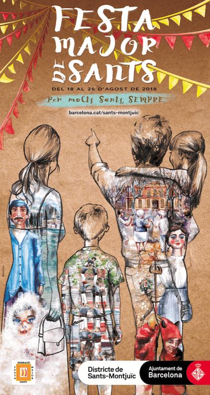 Poster Festa Major Sants 2018